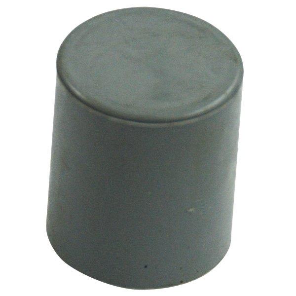 Kick tube cap gray rubber fits tubing