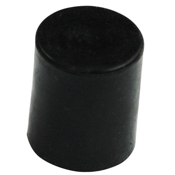 Kick tube cap black rubber fits tubing